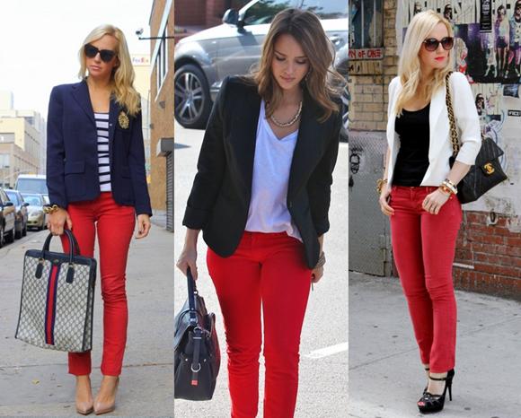 looks com calça vermelha