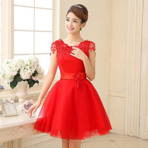 vestido vermelho para o verão 2019